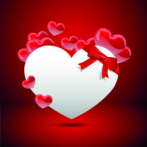 Valentine Day Hearts Elements vector 03