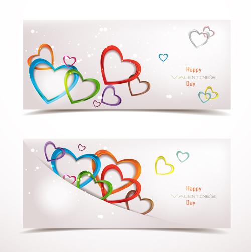 Valentine Day Romantic banner vector 03