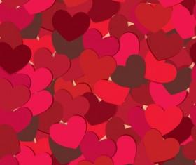 Vector heart Valentine background art 01
