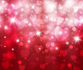Vector heart Valentine background art 02