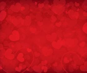 Vector heart Valentine background art 04