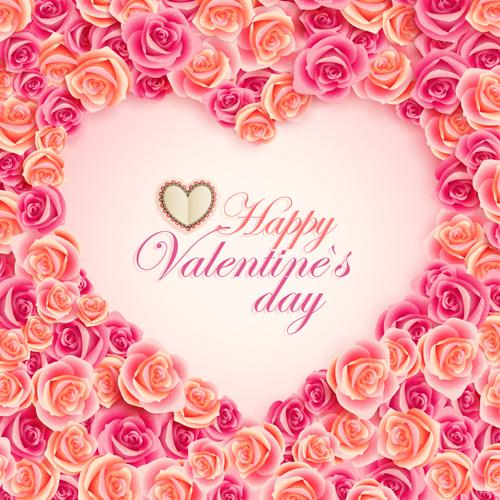 Valentine card vector art 05