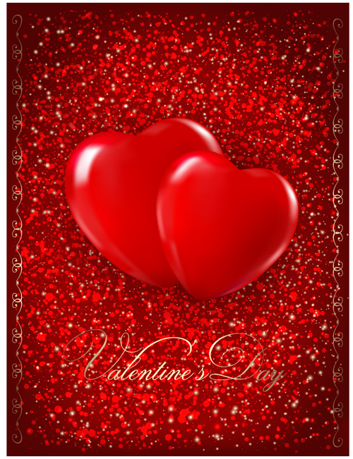 Valentine Day elements vector cards 08 Vector Card Vector – Free Downloadable Valentine Cards