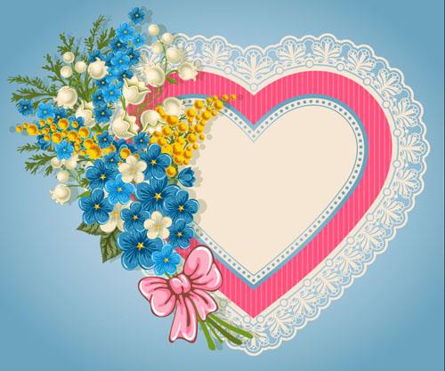 Großartig Valentine Day Elements Vector Cards 11