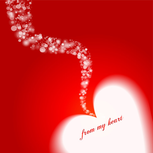 Happy Valentines hearts Illustration vector 01