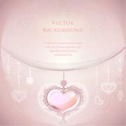 Link toRomantic wedding backgrounds vector material 02