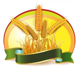 Set of Wheat vector lables 03