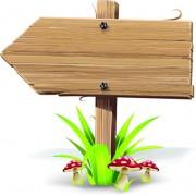 Link toVector wooden signs design elements 05