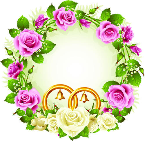 flowers wreath design vector 05 free download
