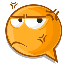Anger expression icon
