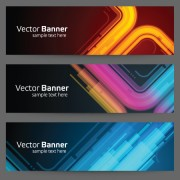 Link toModern colored banner 01 vector material