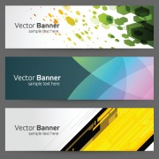Link toModern colored banner 03 vector material