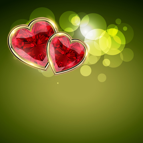 background and romantic hearts vector graphics 02