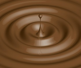Vector Chocolate drops background 01