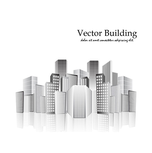 vector city buildings design elements 05 - Free Building Designs