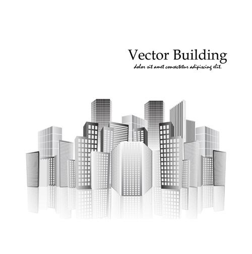 Elegant Vector City Buildings Design Elements 05