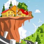 Link toCartoon fairytale town vector 04