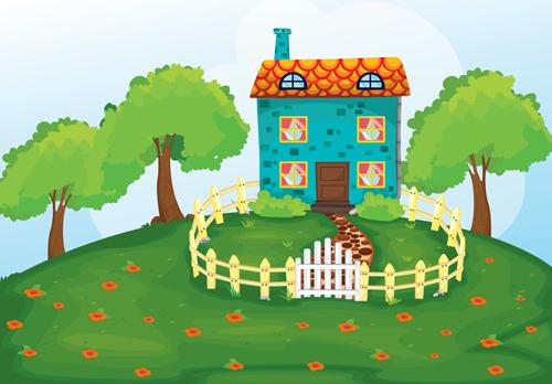 Cartoon Fairytale Town Vector 05 Vector Cartoon Free