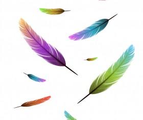 Feather design elements vector Illustration 03