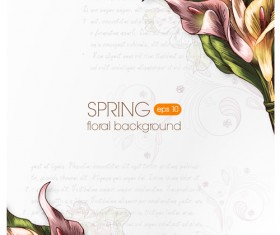 Vector floral backgrounds art 01