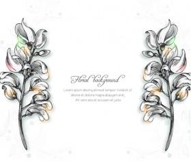 Vector floral backgrounds art 02