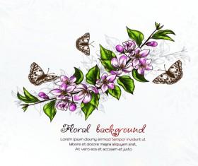 Vector floral backgrounds art 04