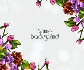Vector floral backgrounds art 05
