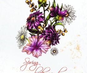 Vector floral backgrounds art 06