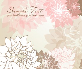 Flowers background design elements vector 03