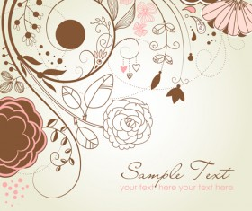 Flowers background design elements vector 04