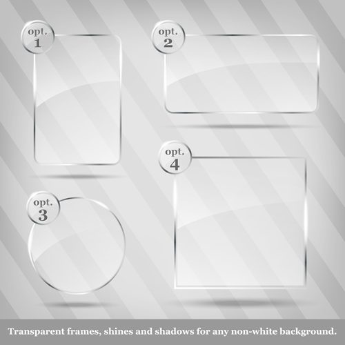 Glass frames Object vector 04 free download