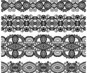 Set of Lace ribbons borders vector 03
