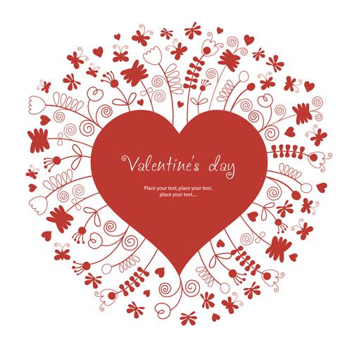 Valentine love backgrounds vector set 06