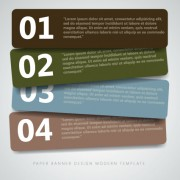 Link toNumbers banners design vector 03