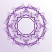Link toGuilloche with rosettes elements vector graphics 04