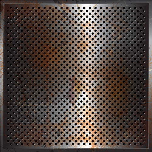 Vector set of Rusted metal texture background 02