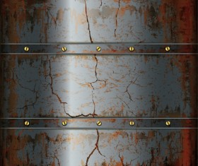 Vector set of Rusted metal texture background 03