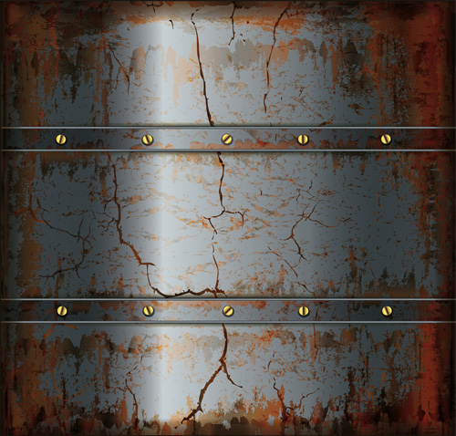 Vector Set Of Rusted Metal Texture Background 03 Over