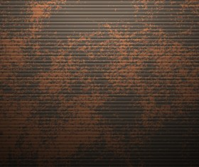 Vector set of Rusted metal texture background 04