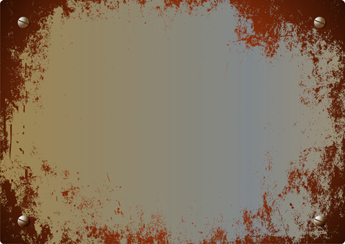 Vector set of Rusted metal texture background 05