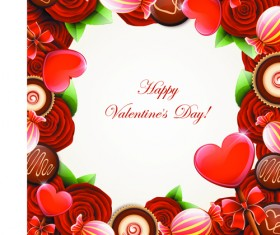 Valentine Day Sweets cards vector 01