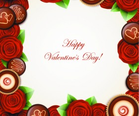 Valentine Day Sweets cards vector 02
