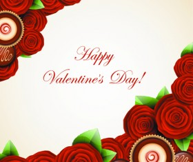 Valentine Day Sweets cards vector 03