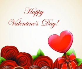 Valentine Day Sweets cards vector 04