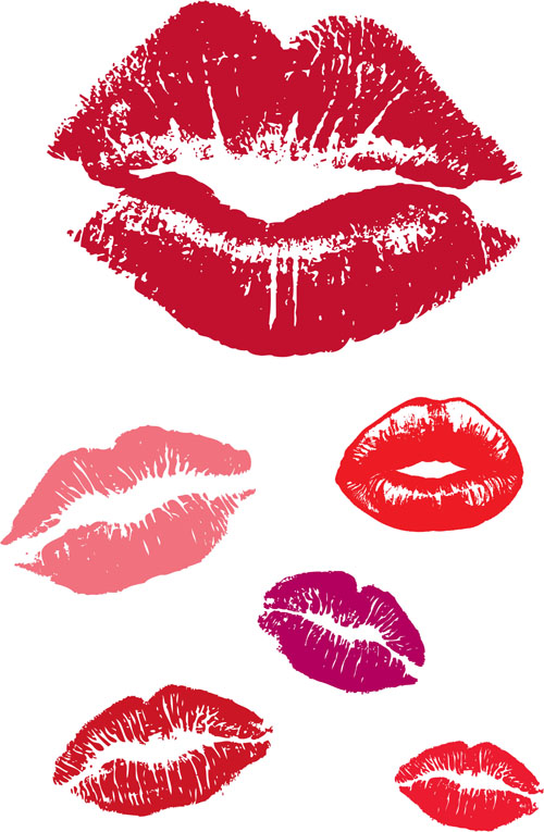 Woman lips vector material 03