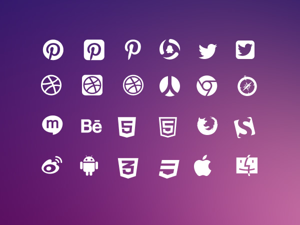 Vector social icons set