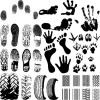 Vector set of fingerprints design elements 04