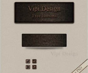 Vintage free psd  button