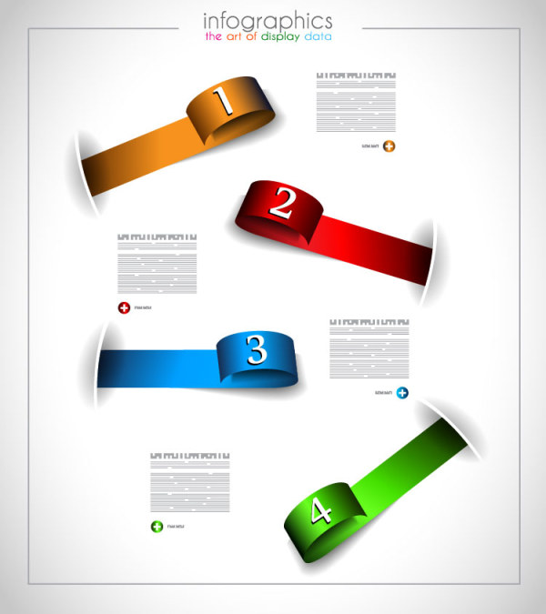 numbered infographics elements vector 04 free download