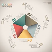Link toNumbered infographics elements vector 05